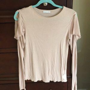Zara women's shirt with open shoulder